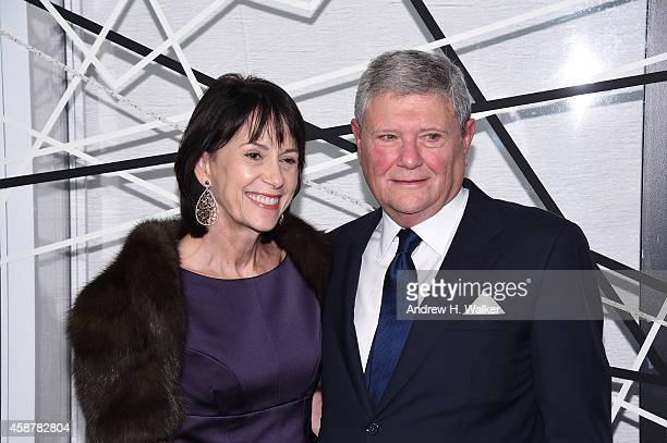 Katherine Farley and Jerry Speyer attend The Museum of Modern Art's 2014 Film Benefit Honoring Alfonso Cuaron at The Museum of Modern Art on November...