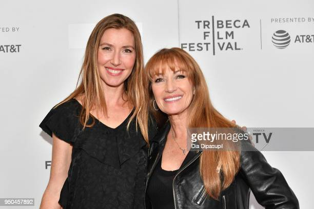Katherine Flynn and Jane Seymour attend the screeing of Oversharing at Tribeca TV Indie Pilots during the 2018 Tribeca Film Festival at Cinepolis...