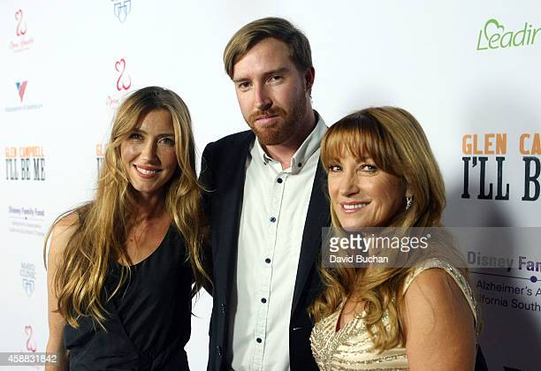 Katherine Flynn Sean Flynn and Jane Seymour attend the Premiere of Glen Campbell I'll Be Me at Pacific Design Center on November 11 2014 in West...