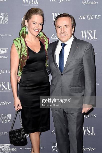 Katherine Gage and Daniel Boulud attend the WSJ Magazine 2016 Innovator Awards at Museum of Modern Art on November 2 2016 in New York City