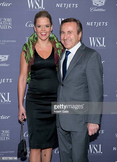 Katherine Gage and Daniel Boulud attend the WSJ Magazine Innovator Awards at Museum of Modern Art on November 2 2016 in New York City