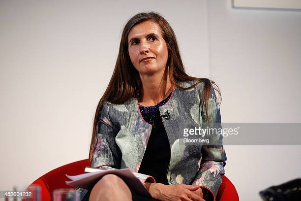 Katherine GarrettCox chief executive officer of Alliance Trust Plc sits and listens during the Commonwealth Games Business Conference in Glasgow UK...