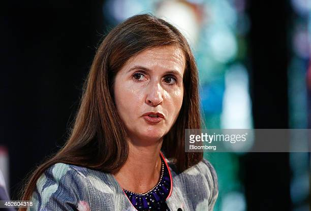 Katherine GarrettCox chief executive officer of Alliance Trust Plc speaks during the Commonwealth Games Business Conference in Glasgow UK on...