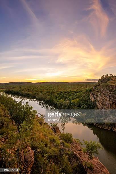 Katherine Gorge at sunset, Nitmiluk National Park, Northern Territory, Australia