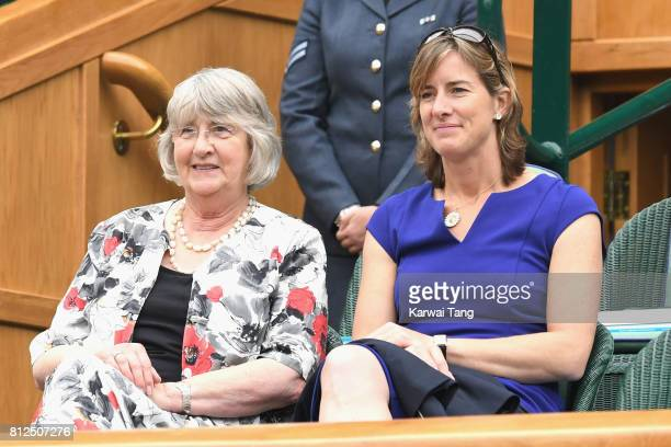 Katherine Grainger and her mother Liz Grainger attend day eight of the Wimbledon Tennis Championships at the All England Lawn Tennis and Croquet Club...