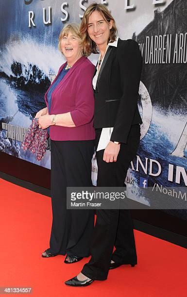 Katherine Grainger and her mother Liz Grainger attend the Scottish Fan Premiere of 'NOAH' at Filmhouse on March 29 2014 in Edinburgh United Kingdom