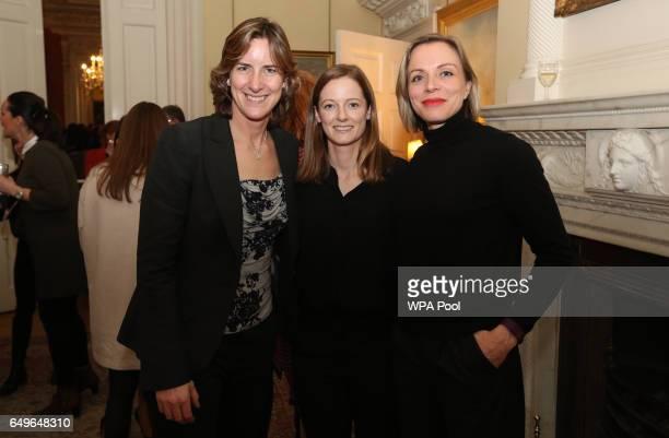 Katherine Grainger Kate RichardsonWalsh and Helen RichardsonWalsh pose for a photo during an International Women's Day reception at 10 Downing Street...