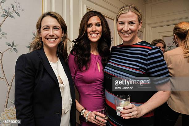 Katherine Hall Cartney McCracken and Kiki Ryan attend a reception to honor Giovanna Gray Lockhart as the new Glamour Washington DC Editor at a...