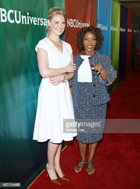 Katherine Heigl and Alfre Woodard arrive at NBCUniversal's 2014 Summer TCA Tour Day 1 held at The Beverly Hilton Hotel on July 13 2014 in Beverly...