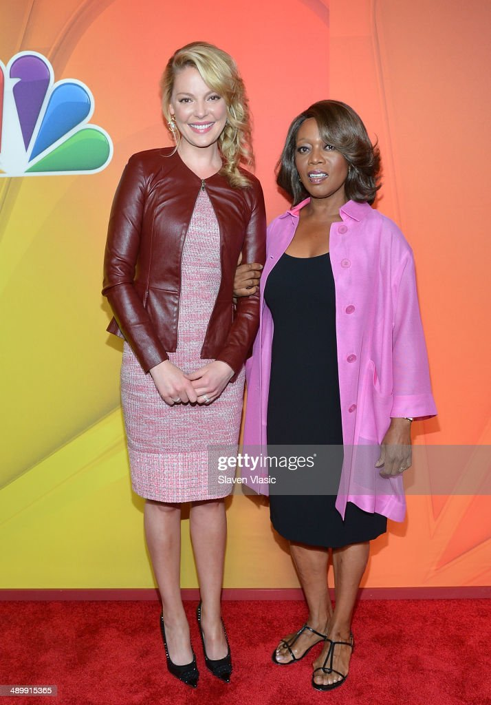 Katherine Heigl (L) and Alfre Woodard attend the 2014 NBC Upfront Presentation at The Jacob K. Javits Convention Center on May 12, 2014 in New York City.