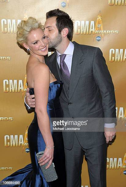 Katherine Heigl and Josh Kelley attend the 44th Annual CMA Awards at the Bridgestone Arena on November 10 2010 in Nashville Tennessee