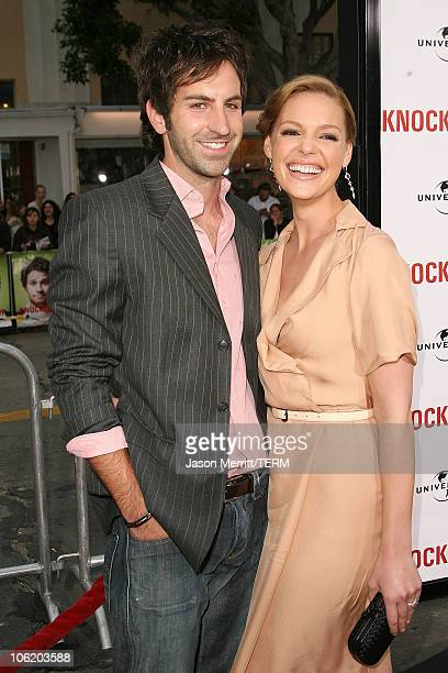 Katherine Heigl and Josh Kelley during 'Knocked Up' Los Angeles Premiere Arrivals at Mann Village Theater in Westwood California United States