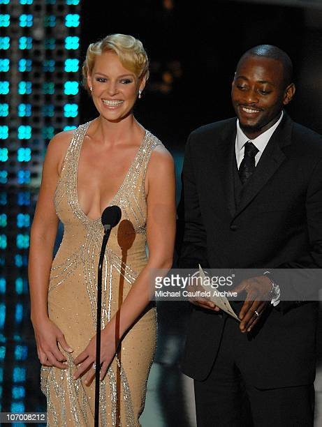 Katherine Heigl and Omar Epps presenters for Best Directing For A Miniseries Movie Or A Dramatic Special and Best Writing For A Miniseries Movie Or A...