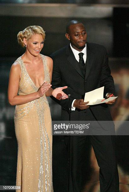 Katherine Heigl and Omar Epps presenters Outstanding Directing for a Miniseries Movie or Dramatic Special and Outstanding Writing for a Miniseries...