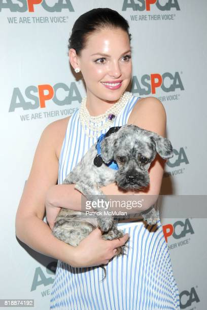 Katherine Heigl and Philly the Dog attend 13th Annual ASPCA Bergh Ball at The Plaza on April 15 2010 in New York City