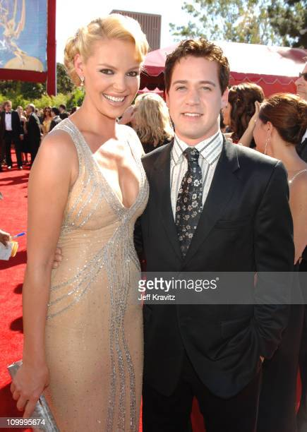 Katherine Heigl and TR Knight during 58th Annual Primetime Emmy Awards Red Carpet at The Shrine Auditorium in Los Angeles California United States