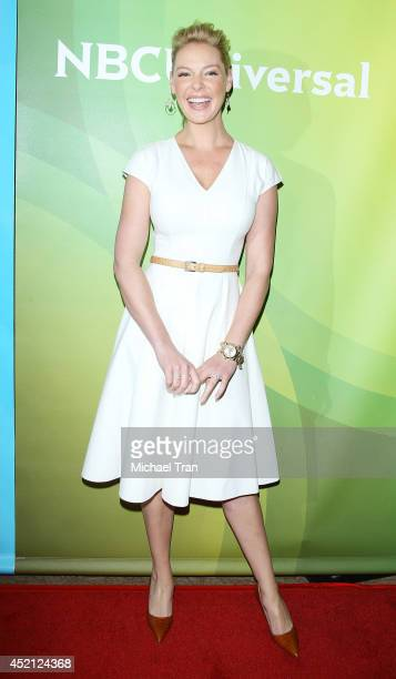Katherine Heigl arrives at NBCUniversal's 2014 Summer TCA Tour Day 1 held at The Beverly Hilton Hotel on July 13 2014 in Beverly Hills California