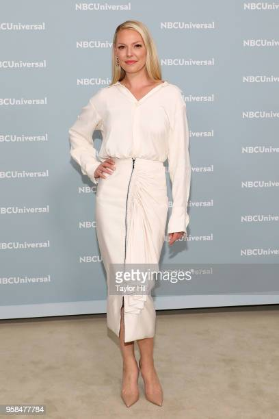Katherine Heigl attends the 2018 NBCUniversal Upfront Presentation at Rockefeller Center on May 14 2018 in New York City