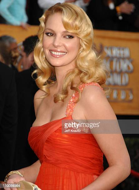 Katherine Heigl during 13th Annual Screen Actors Guild Awards Arrivals at Shrine Auditorium in Los Angeles California United States