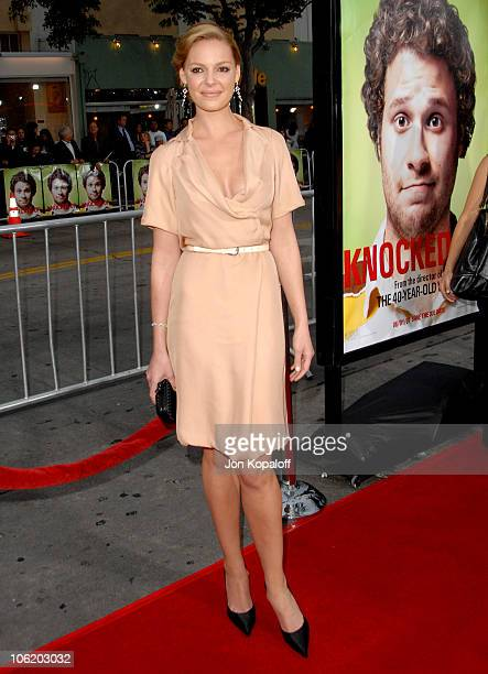 Katherine Heigl during Knocked Up Los Angeles Premiere Arrivals at Mann Village Theater in Westwood California United States
