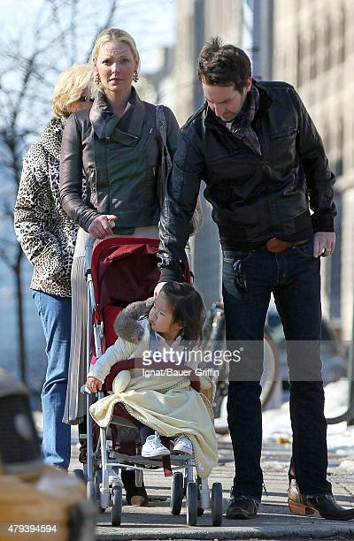 Katherine Heigl her husband Josh Kelley and her daughter Naleigh are seen on February 06 2011 in New York City
