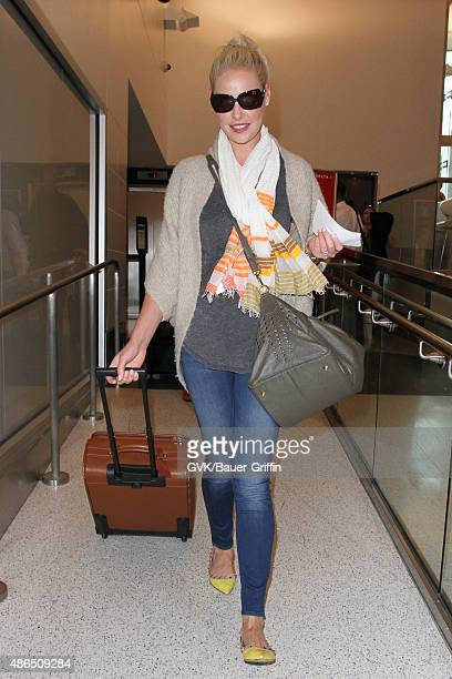 Katherine Heigl is seen at LAX on September 04 2015 in Los Angeles California