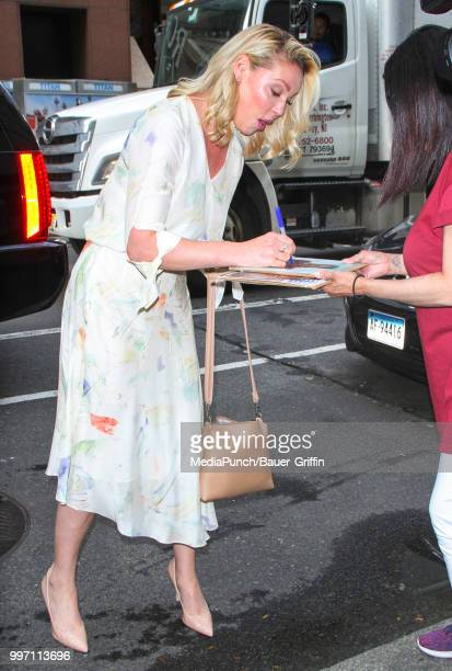 Katherine Heigl is seen on July 12 2018 in New York City