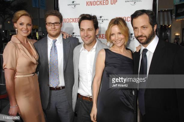 Katherine Heigl Seth Rogen Paul Rudd Leslie Mann and Judd Apatow director/writer/producer
