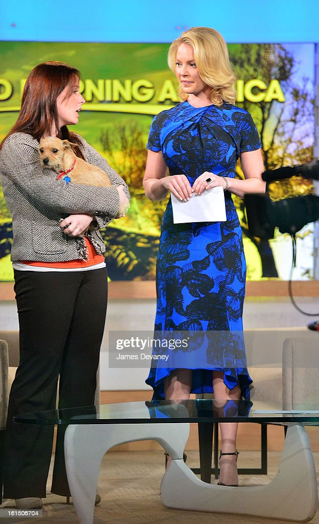 Katherine Heigl visits ABC's 'Good Morning America' at ABC Studios on February 11, 2013 in New York City.