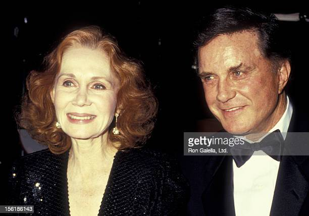 Katherine Helmond and actor Cliff Robertson attend The Monterey Vineyard Director's Ball Honoring Cliff Robertson on February 7 1987 at the Hyatt...