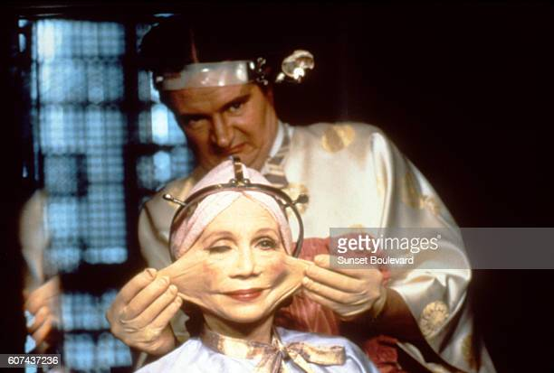 Katherine Helmond on the set of Brazil, written and directed by Terry Gilliam.