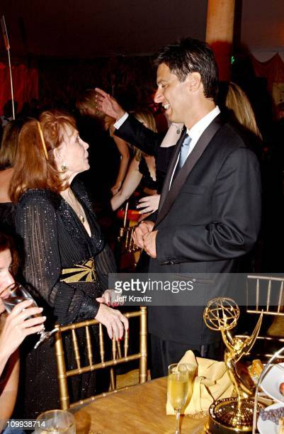 Katherine Helmond & Ray Romano during The 54th Annual Primetime Emmy Awards - HBO Post Party at Spago's in Los Angeles, California, United States.