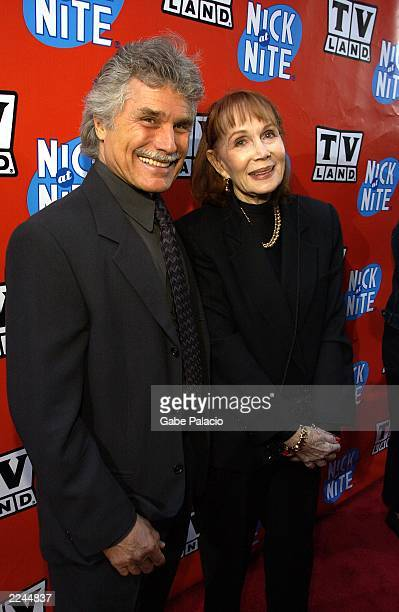 Katherine Helmond Soap and husband David Christian at the TV Land and Nick at Nite Upfront in The Bat Cave on Broadway in New York City on April 24...
