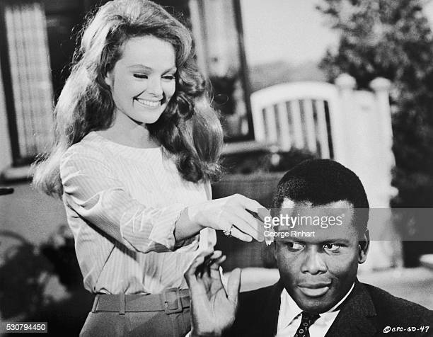 Katherine Houghton and Sidney Poitier in Columbia Pictures 1967 release Guess Who's Coming To Dinner directed by Stanley Kramer