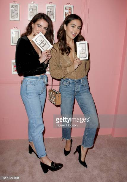 Katherine Hughes and Melanie Rains attend the Sonix And Friends PopUp Shop on Melrose Avenue on March 23 2017 in Los Angeles California