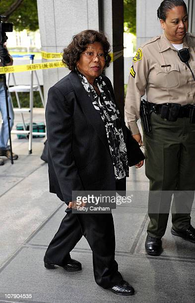 Katherine Jackson arrives for day three of the preliminary hearing for Dr Conrad Murray on January 6 2011 in Los Angeles California Dr Murray has...