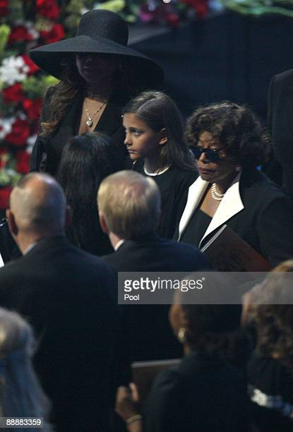 Katherine Jackson arrives with Michael Jackson's daughter Paris Michael Katherine Jackson at the Michael Jackson public memorial service held at...