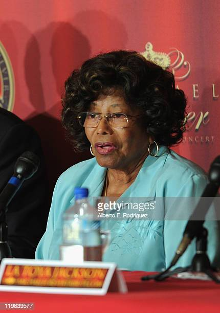 Katherine Jackson attends a live press conference announcing Global Live Evennts' International Historical Trubute Concert honoring the late pop icon...
