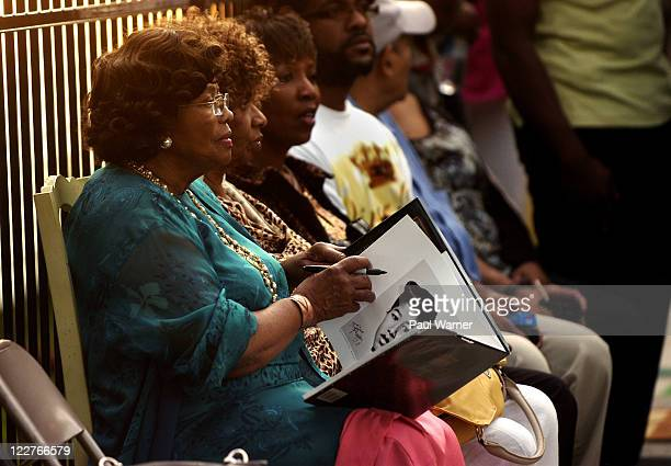 Katherine Jackson attends Michael Jackson's birthday commemoration at the childhood home of Michael Jackson on August 28 2011 in Gary Indiana