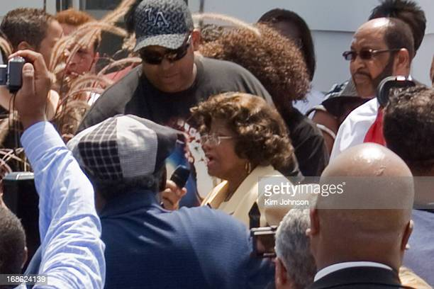 Katherine Jackson speaking at the unveiling of the Memorial Stone dedicated to Micheal Jackson at the Jackson Family Gary Indiana home on June 25 one...