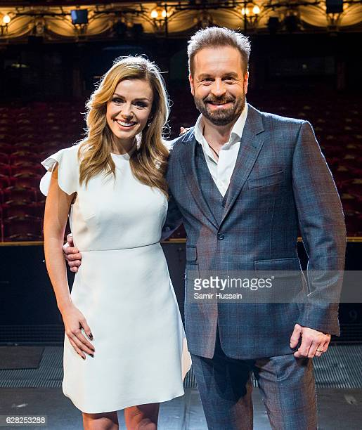 Katherine Jenkins And Alfie Boe attend a photocall to announce casting in Hammerstein's 'Carousel' at London Coliseum on December 7 2016 in London...