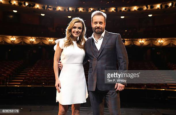 Katherine Jenkins and Alfie Boe attend a photocall to announce their casting in Hammerstein's 'Carousel' at London Coliseum on December 7 2016 in...