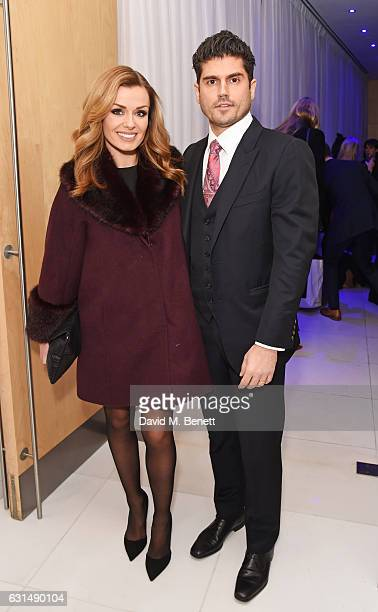 Katherine Jenkins and Andrew Levitas attend a drinks reception ahead of the press night performance of The English National Ballet's 'Giselle' at St...