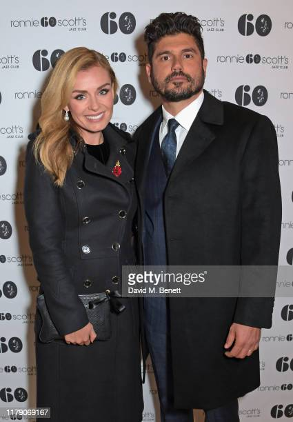 Katherine Jenkins and Andrew Levitas attend A Night At Ronnie Scotts 60th Anniversary Gala at the Royal Albert Hall on October 30 2019 in London...