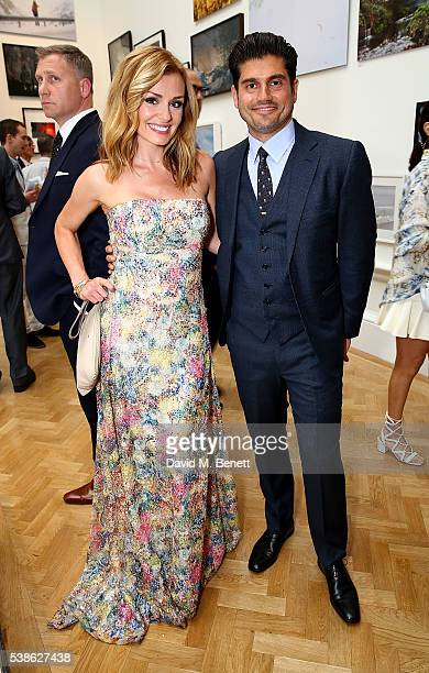 Katherine Jenkins and Andrew Levitas attend a VIP preview of the Royal Academy of Arts Summer Exhibition 2016 on June 7 2016 in London England