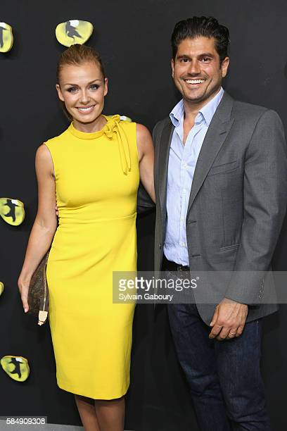 Katherine Jenkins and Andrew Levitas attend Andrew Lloyd Webber's Iconic Musical 'CATS' Opening Night at Neil Simon Theatre on July 31 2016 in New...