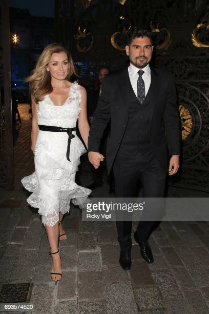 Katherine Jenkins and Andrew Levitas attend Royal Academy of Arts Summer Exhibition 2017 VIP preview/party on June 7 2017 in London England