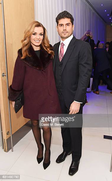 Katherine Jenkins and Andrew Levitas attend the opening night reception of the English National Ballet's production of 'Giselle' hosted by St Martins...