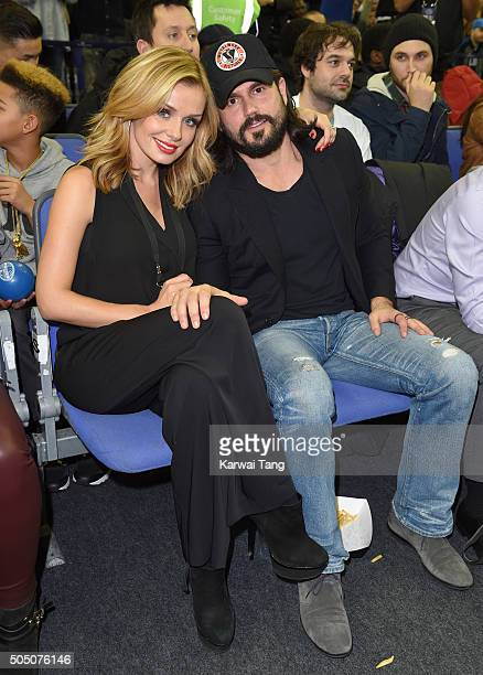 Katherine Jenkins and Andrew Levitas attend the Orlando Magic vs Toronto Raptors NBA Global Game at The O2 Arena on January 14 2016 in London England