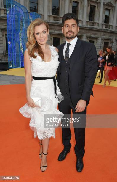 Katherine Jenkins and Andrew Levitas attend the Royal Academy Of Arts Summer Exhibition preview party at Royal Academy of Arts on June 7 2017 in...